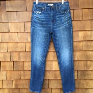 Madewell The High-Rise Slim Boyjean Distressed 28